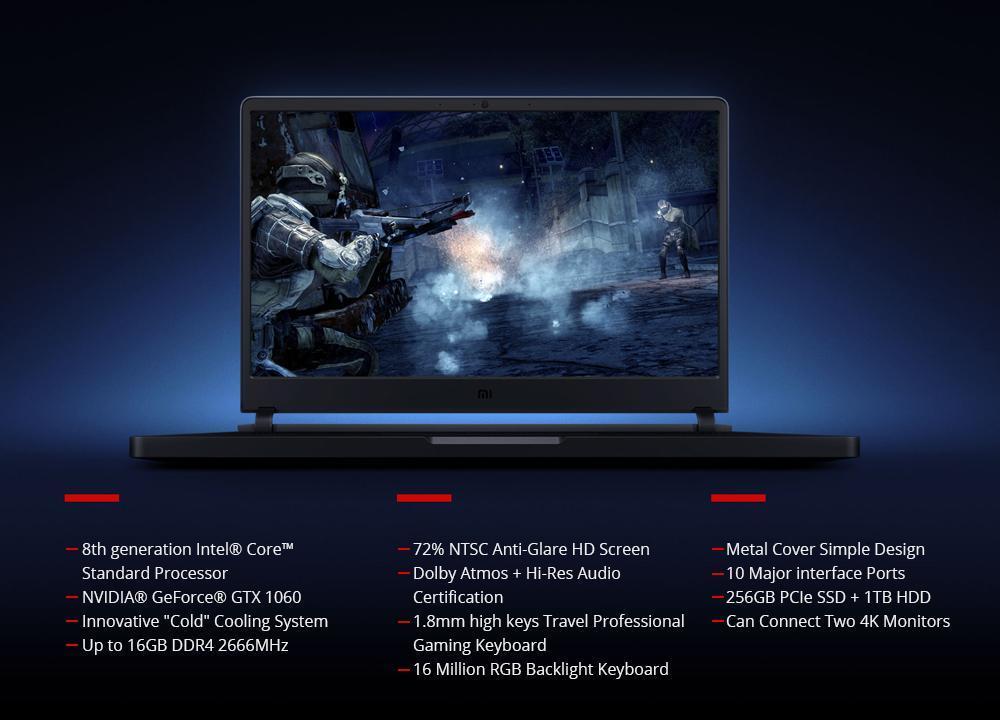 Xiaomi Mi Gaming Laptop Intel Core i7-8750H Hexa Core 15.6
