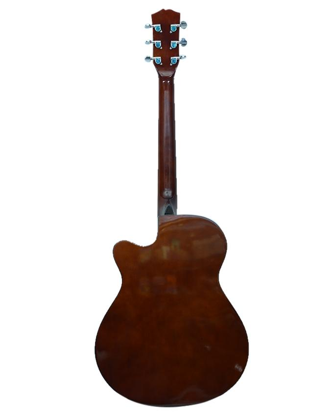 Dark Brown and Yellow Pure Acoustic Guitar