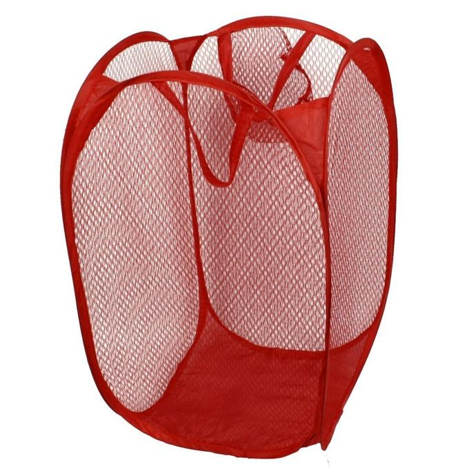Foldable Pop Up Dirty Clothes Storage Baby Bag - Red