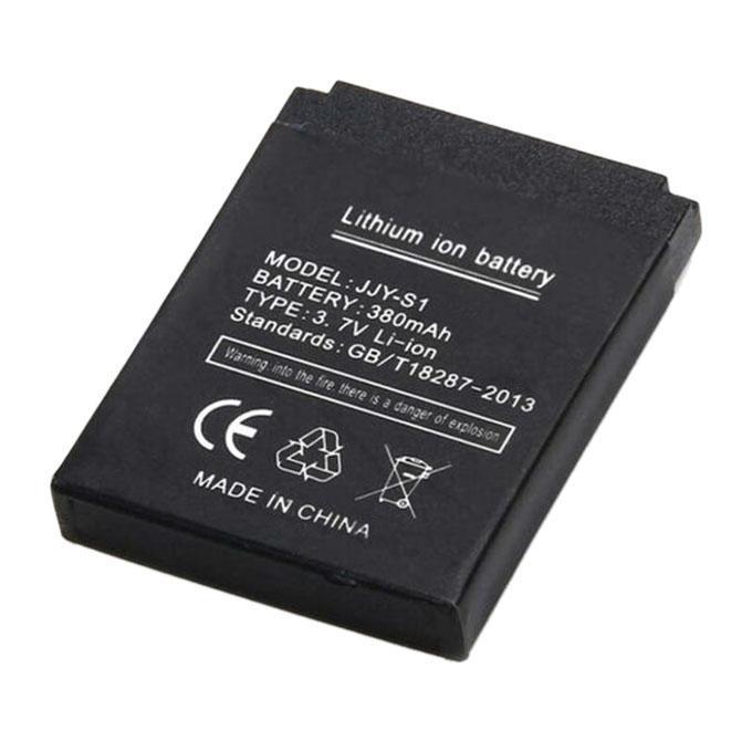 Original Rechargeable Smart Watch Li-ion Polymer Battery 380mAh 3.7V_Black