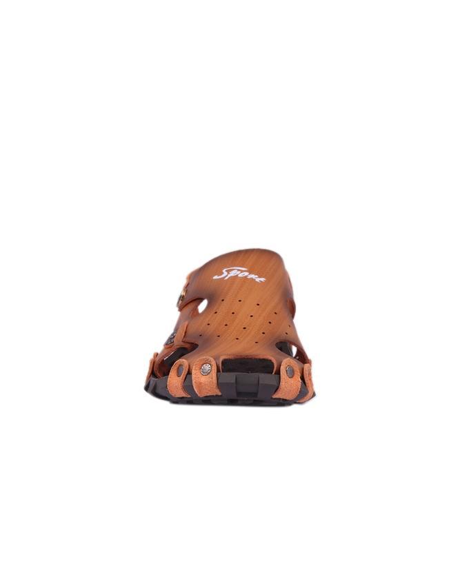 PU Sandal For Men - Light Brown