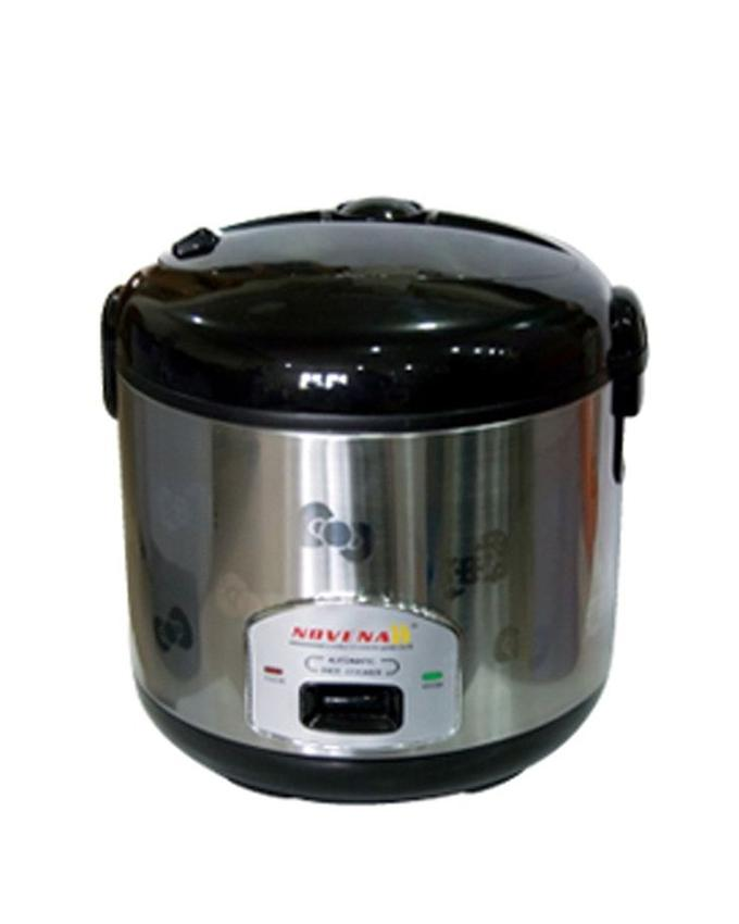 Rice Cooker - 2.2L - Silver and Black