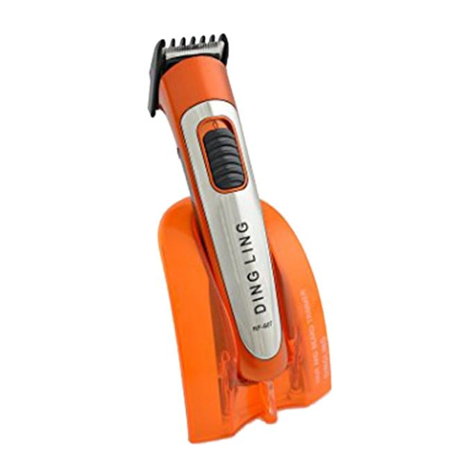 RF-607 Professional Rechargeable Battery Shaver Hair Trimmer - Orange