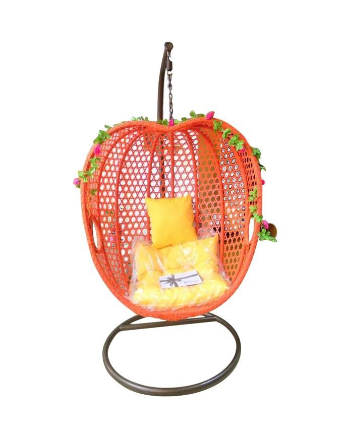 Reddish Orange Design Apple Swing Chair