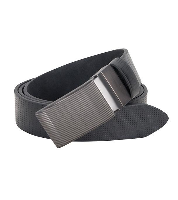 Matte Silver Buckle Formal Belt For Men