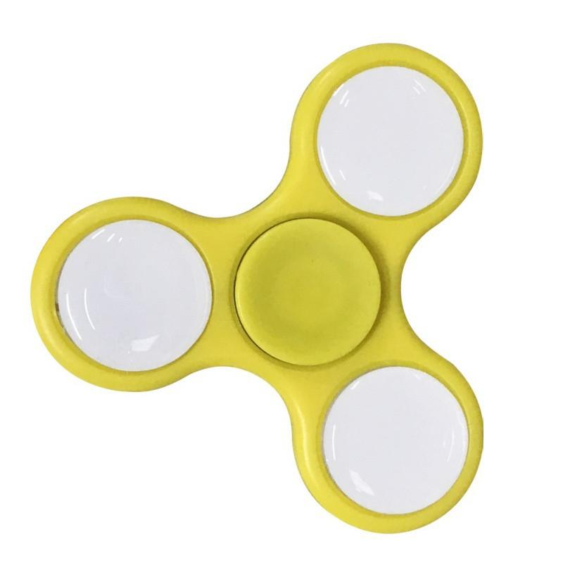 LED Tri Fidget Spinner Stress Reducer Toy – Yellow