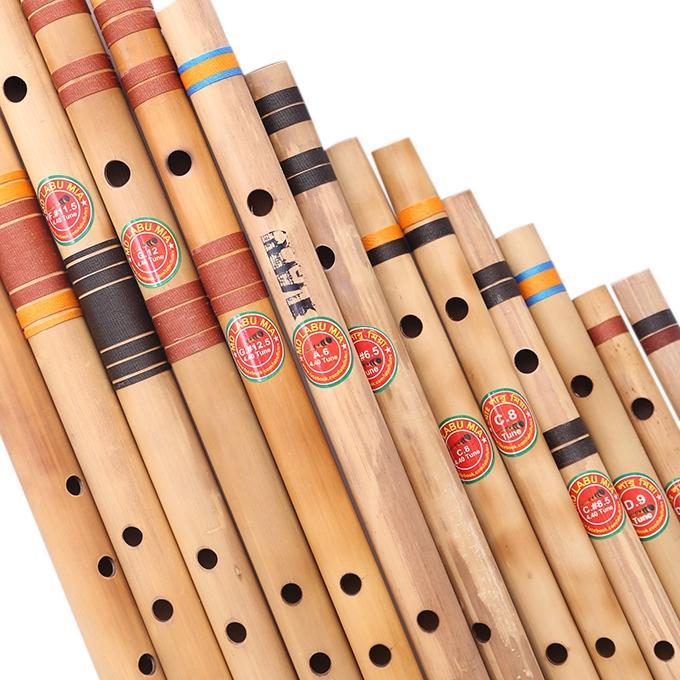 Bamboo Flute Set 12 Pcs - Wooden