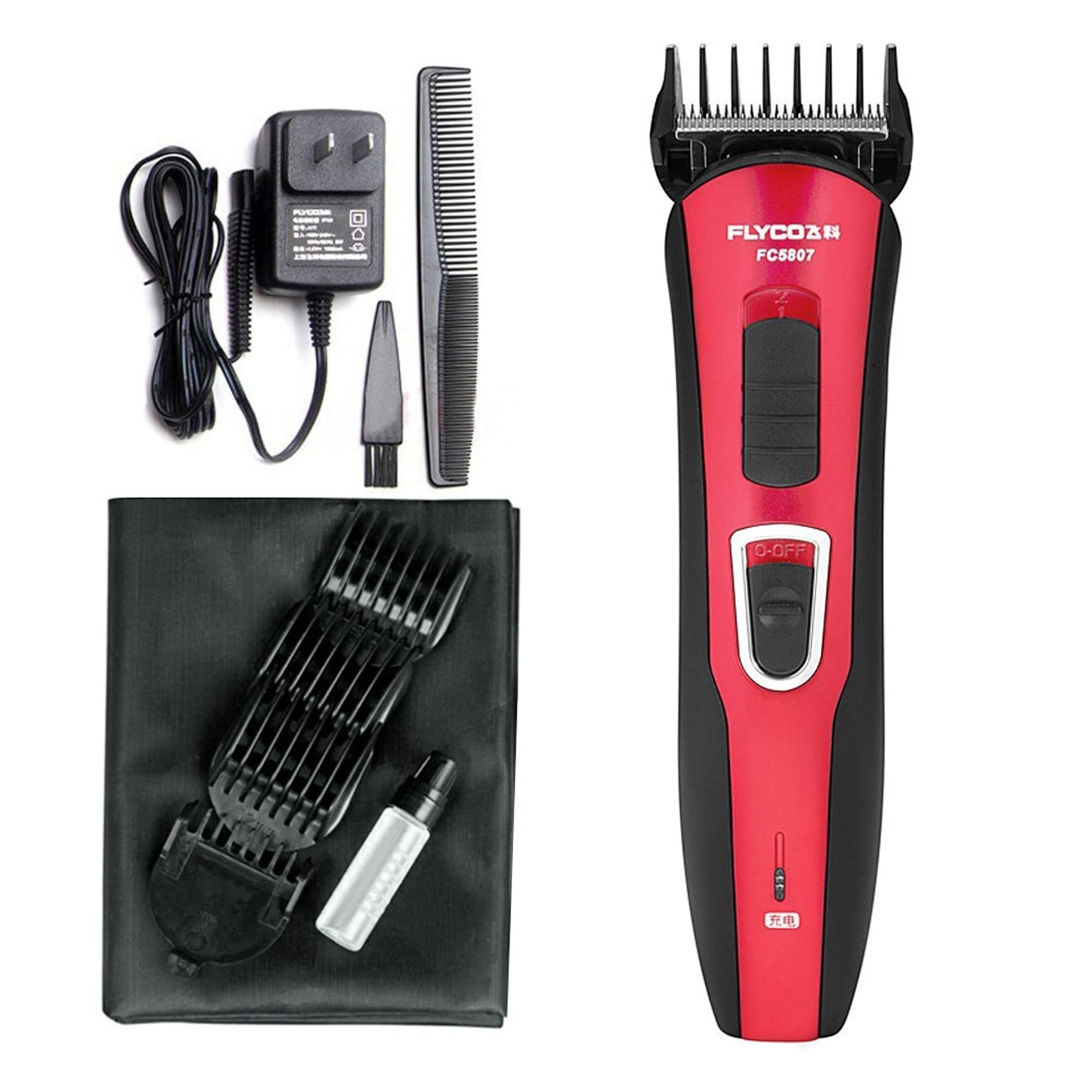 FC5807 Professional Electric Hair Clipper  -  Red and Black