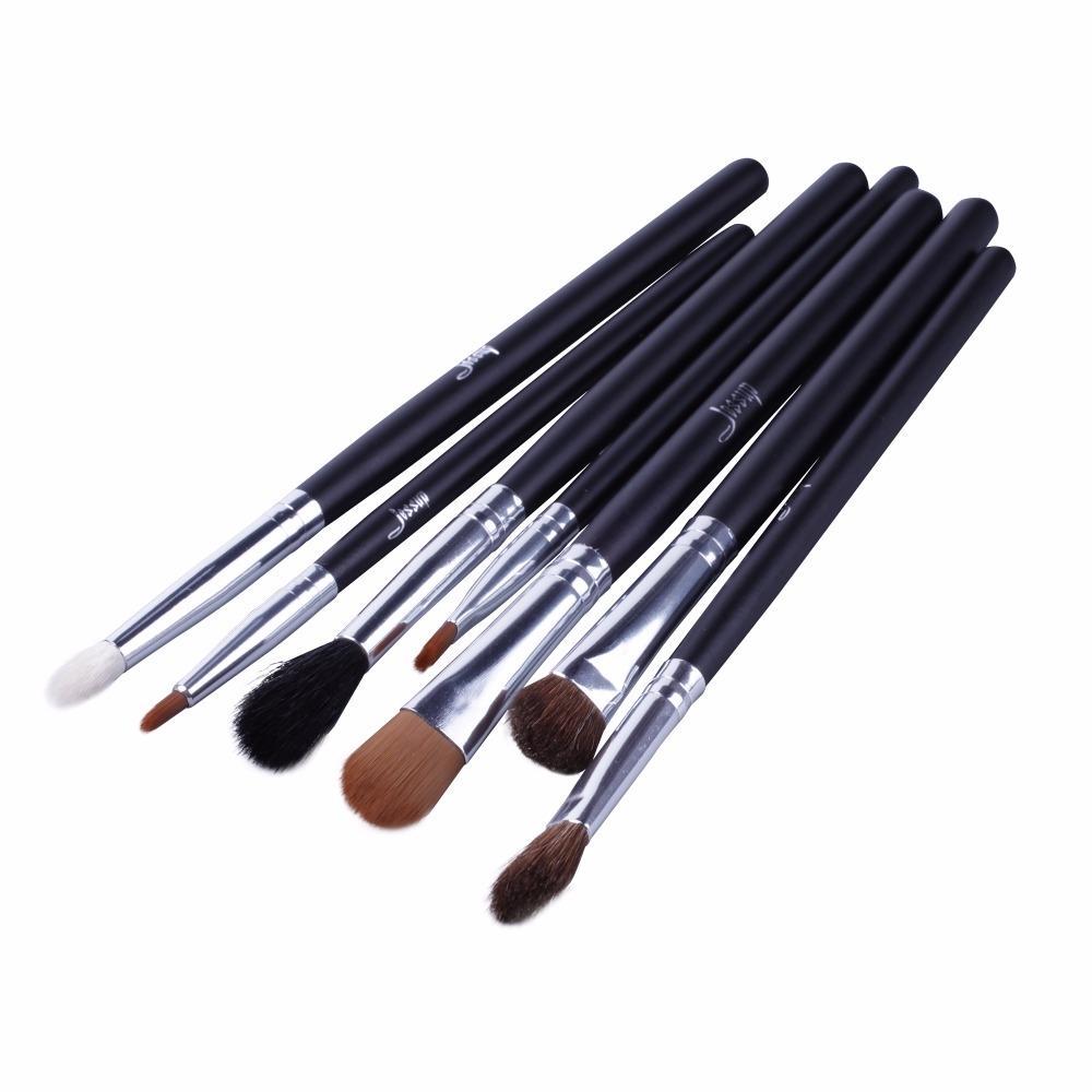 T073 7 PCs Individual Series Brush Set - Black and Silver