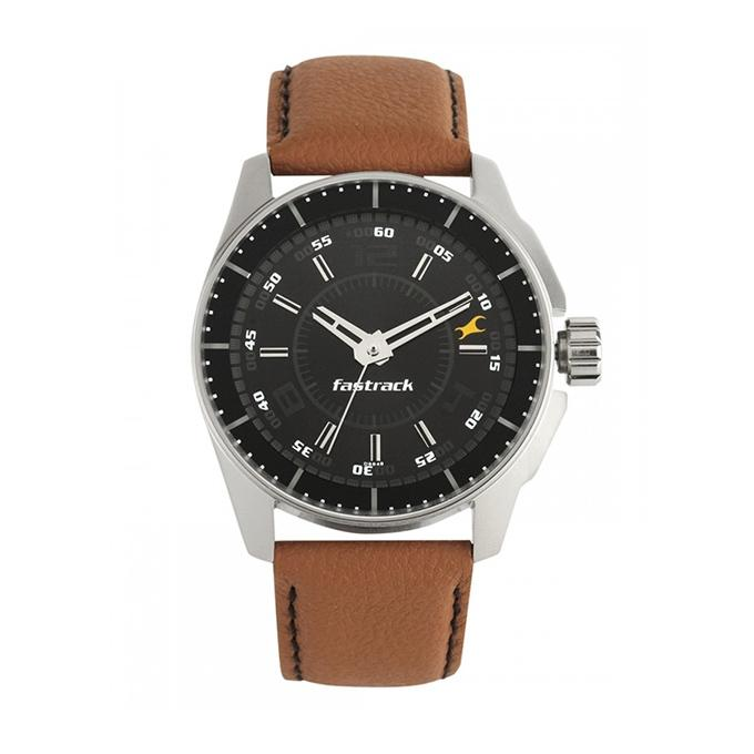 3089SL05 - Leather Analog Watch For Men - Brown