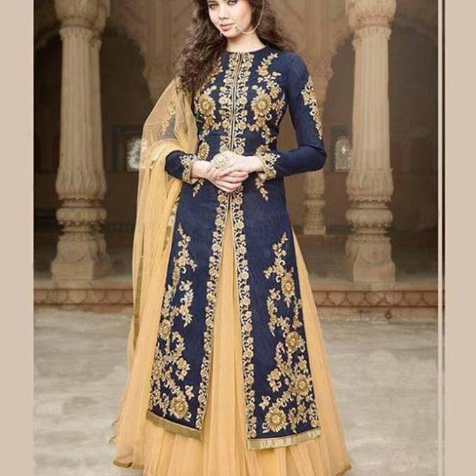 Navy Blue and Golden Indian 3PCS For Women