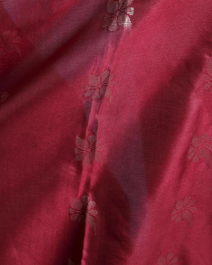 Katan Silk Party Saree - Pink with Purple