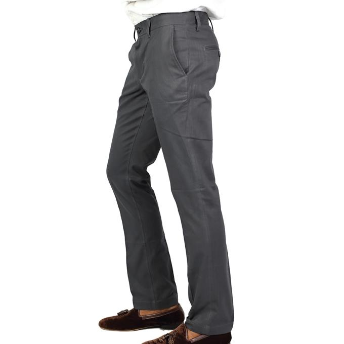 Grey Twill Formal Pant For Men