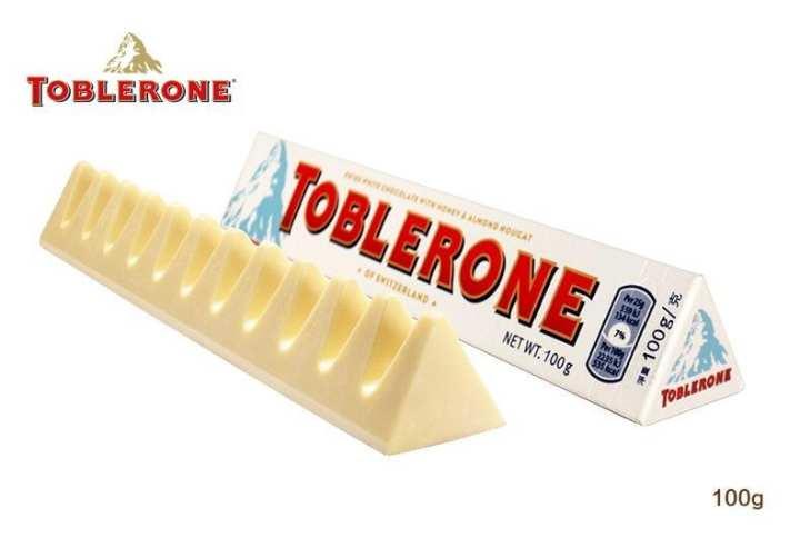 Toblerone White  Chocolate Bar - 100g