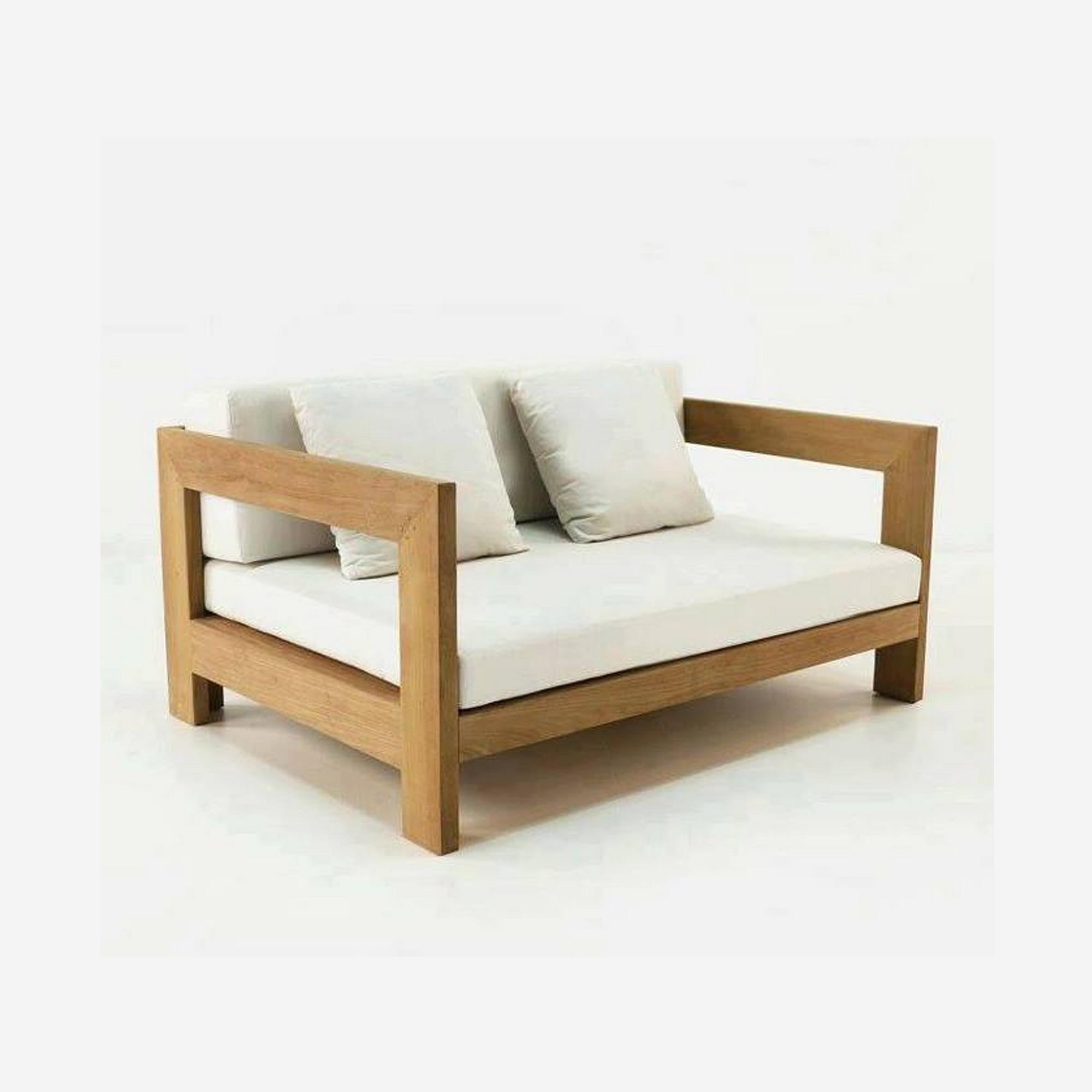2 Seater Wooden Sofa - Lacquer: Buy Online At Best Prices In Bangladesh | Daraz.com.bd