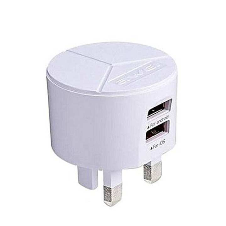 C940 Double USB Charger Adapter - White