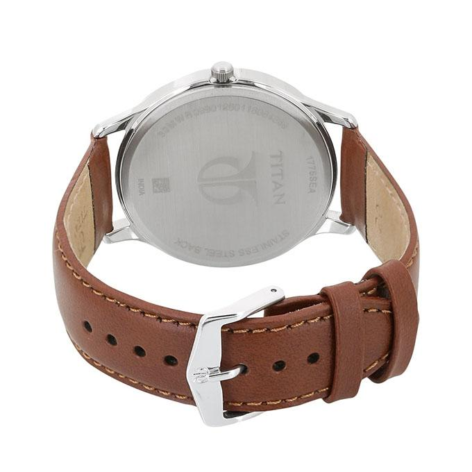 1775SL01 - Brown Leather Analog Watch for Men