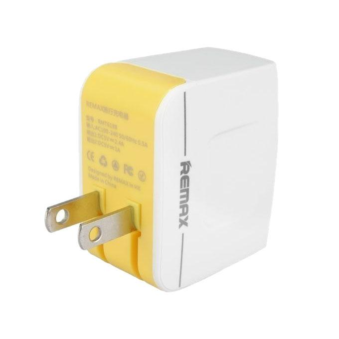 3.4A Dual USB Port Travel Charger - White