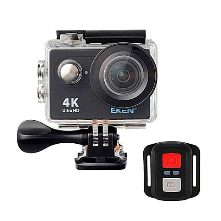 H9R - 4K Wifi Action Camera with Remote - Black and Transparent