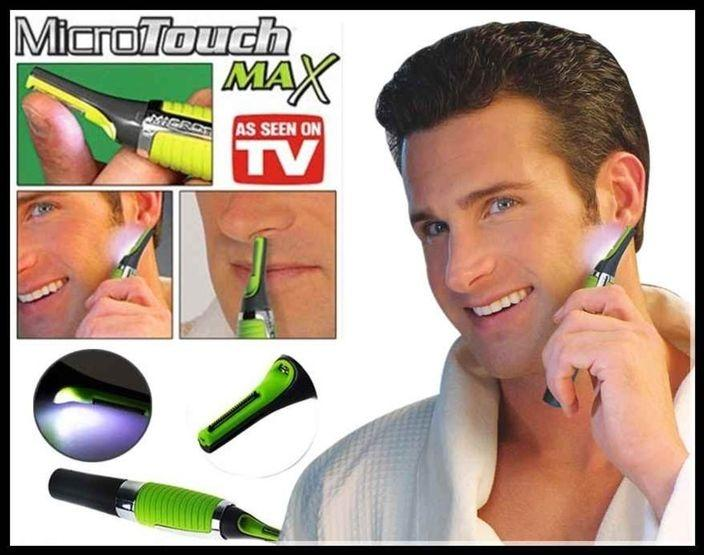 Micro Touch Max Multi-Function Trimmer - Silver and Green