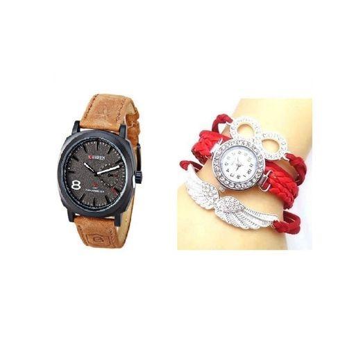 Combo of Men's and Women's Watch