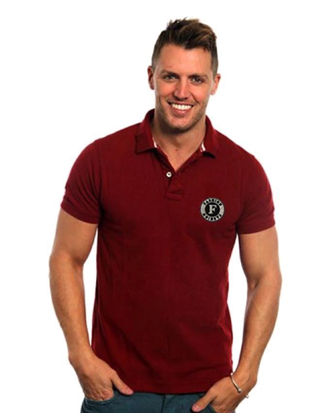 Maroon Cotton Polo For Men