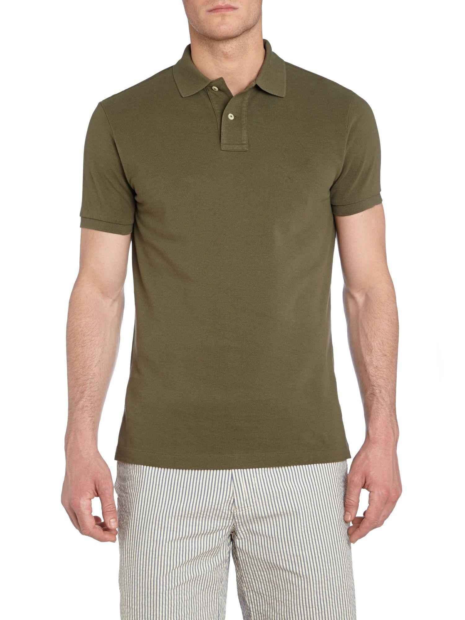 Coffee Cotton Casual Polo For Men