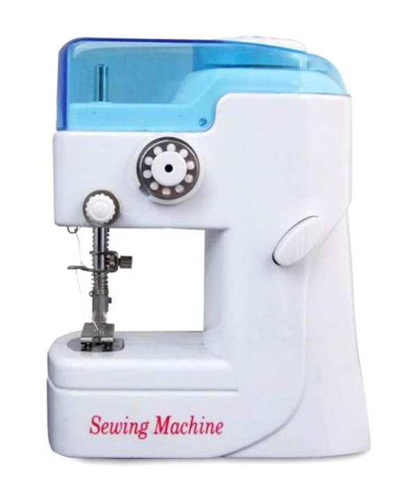 Mini Portable Sewing Machine - White and Blue