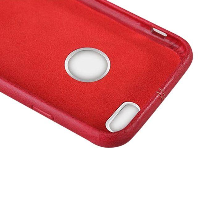 NEV IP6E Englon Series Premium Leather Case Back Cover for iPhone 6S - Red