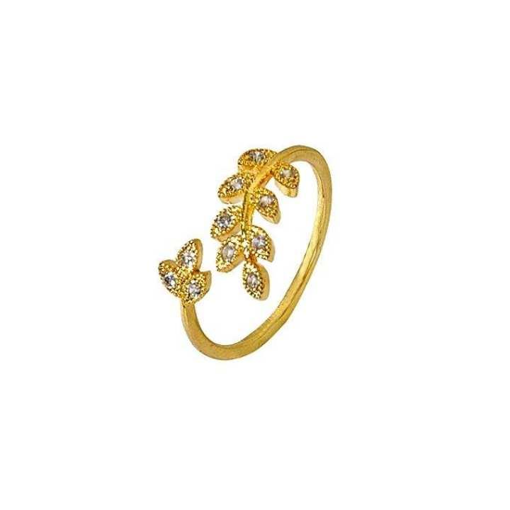 Golden Gold Plated Finger Ring For Women