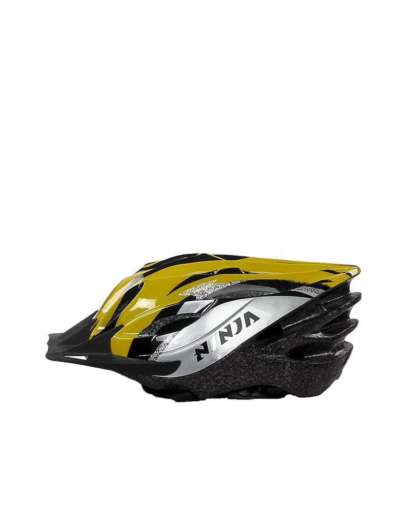 Bike Helmet - White & Yellow