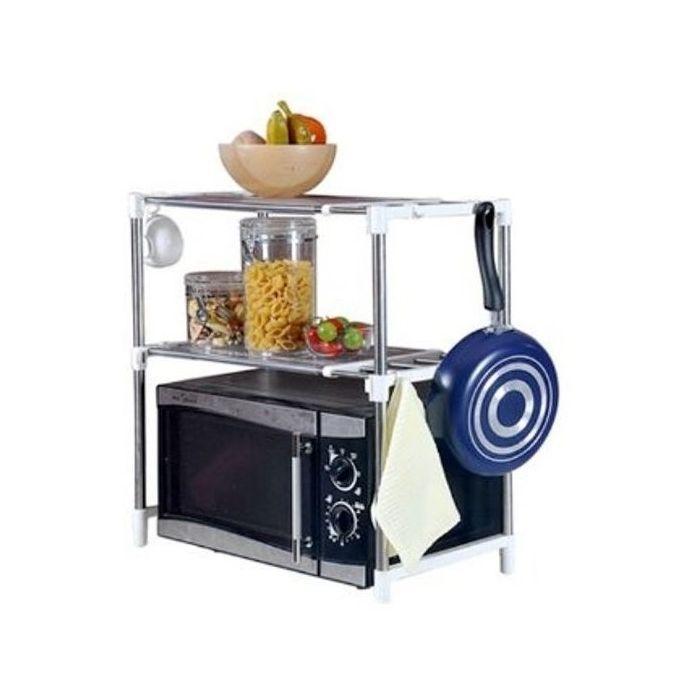 Microwave Oven Storage Racks - Silver