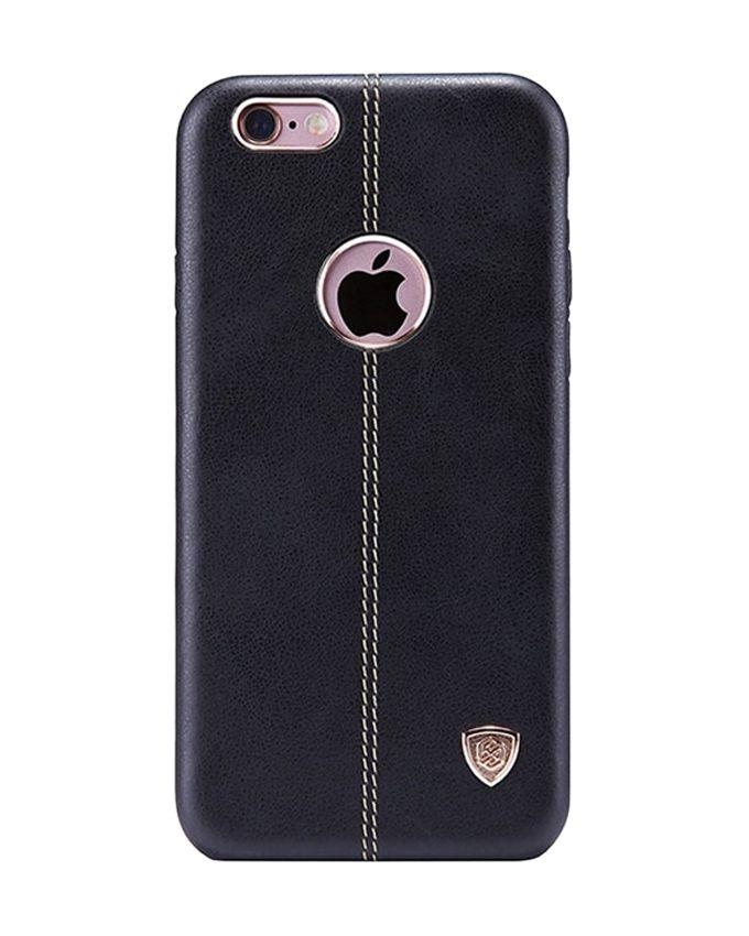 NEV IP6P Englon Series Premium Leather Case Back Cover for iPhone 6SP - Black