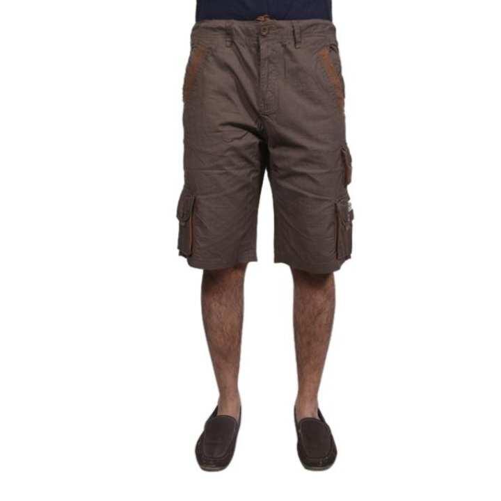 Brown Cotton Shorts For Men