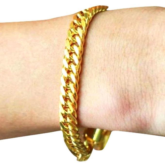 Gold Platted Bracelet For Men