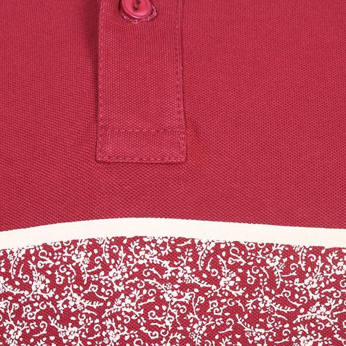 Multicolor Cotton Casual Polo For Men