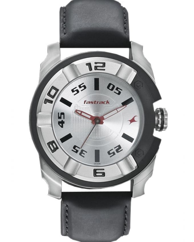 3150KL01 - Leather Analog Watch For Men - Black