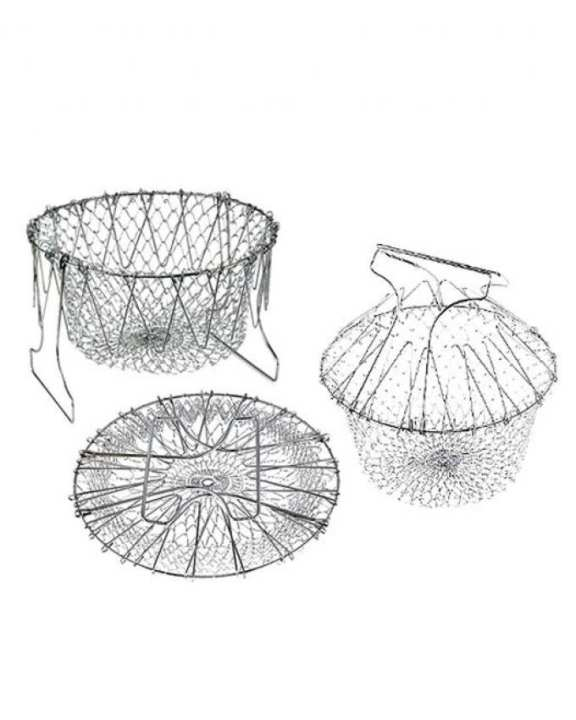 12 In 1 Chef Basket Cooking Strainer - White