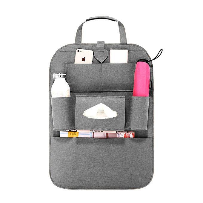 Ash Synthetic Car Backpack