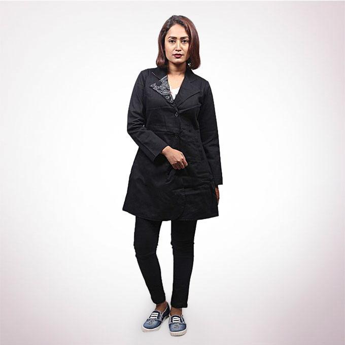 Black Denim Jacket For Women