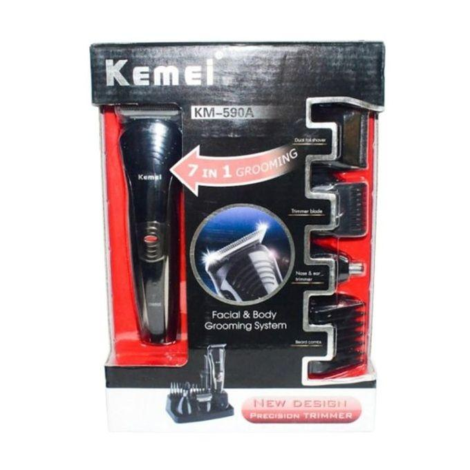 590A 7 In 1 Shaver and Trimmer - Black