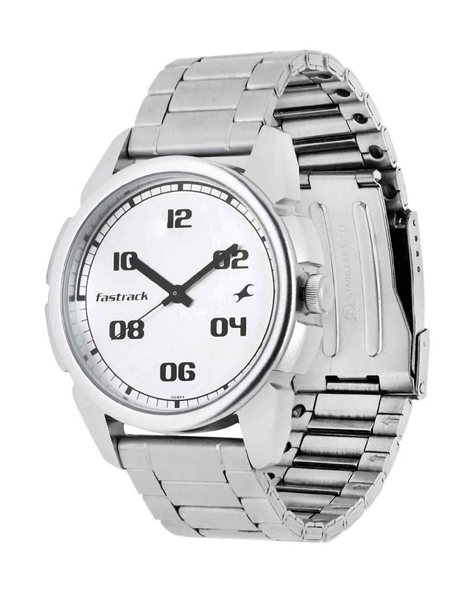 3124SM01 - Stainless Steel Analog Watch For Men - Silver