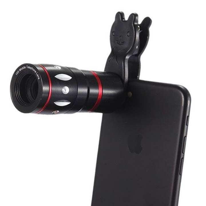 10X Telescope Mobile Phone Camera Lens – Black