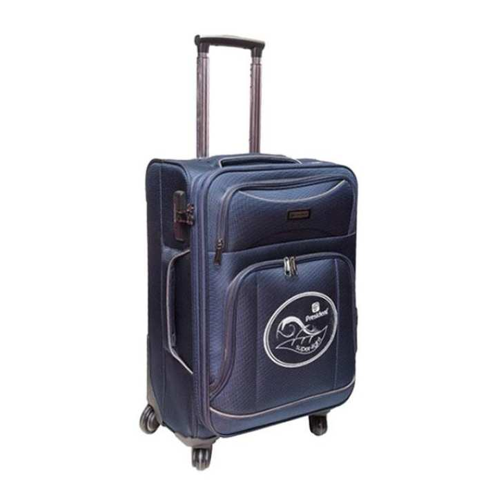 "26"" Navy Blue Parachute Fabric Trolley Bag"
