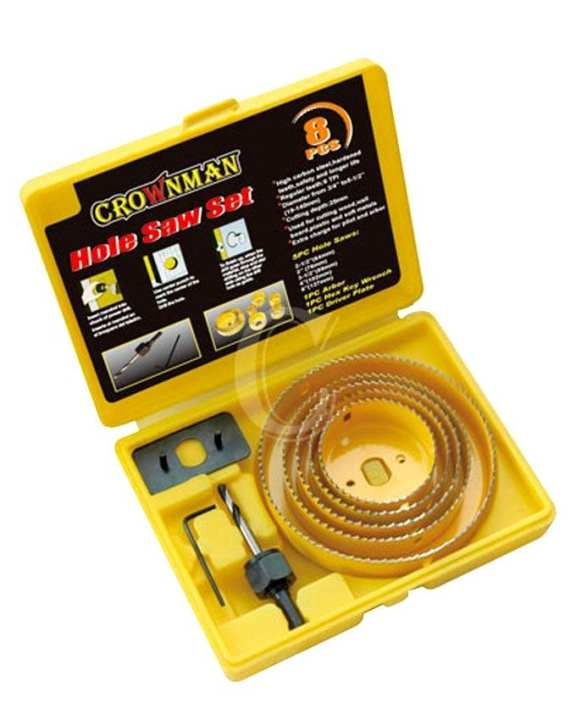 Hole Saw 8pc Set - Yellow