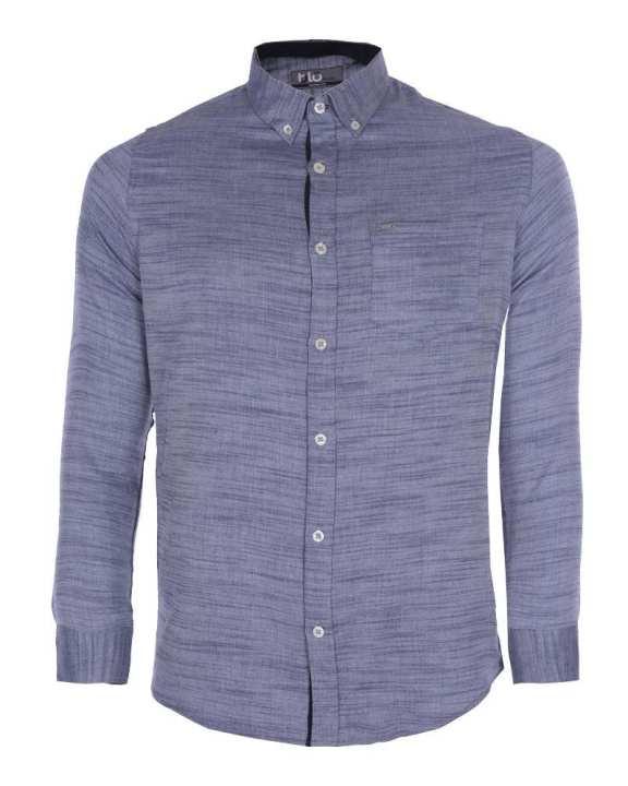 Linen Casual Long Sleeve Shirt - Grey