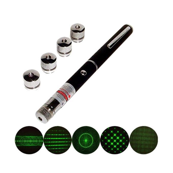 5 in 1 Green Laser Pointer – Black