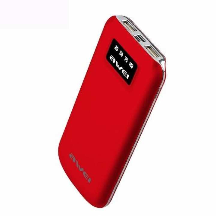 P50K Power Bank 10000mAh External Battery Dual USB Ports – Red