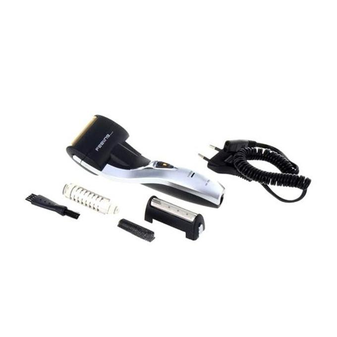 KM-1720 Rechargeable Electric Shaver - Black and Silver