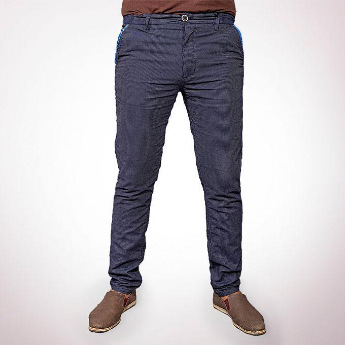 Cotton Casual Pants - Blue